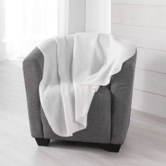 Pilou Plain Fleece Throw - Cream