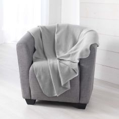 Pilou Plain Fleece Throw - Silver Grey