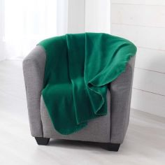 Pilou Plain Fleece Throw - Green