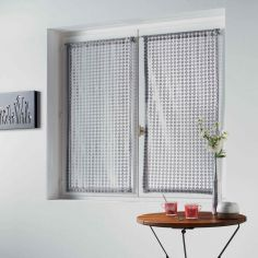 Adria Pair Of Mesh Slot Top Voile Blinds - Silver Grey