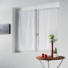 Adria Pair Of Mesh Slot Top Voile Blinds - White