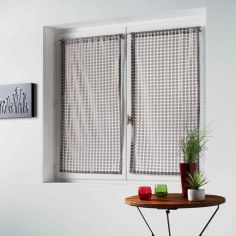 Adria Pair Of Mesh Slot Top Voile Blinds - Taupe