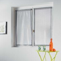 Cadria Pair Of Mesh Slot Top Blinds - Silver Grey