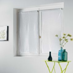 Cadria Pair Of Mesh Slot Top Blinds - White
