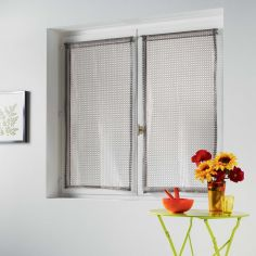 Cadria Pair Of Mesh Slot Top Blinds - Taupe