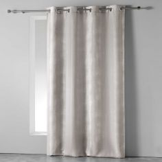 Rainbow Stripes Ready Made Single Eyelet Curtain Panel  - Beige