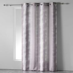 Rainbow Stripes Ready Made Single Eyelet Curtain Panel  - Brown