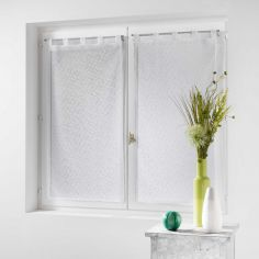 Cassie Pair Of  Voile Curtain Blinds With  Tab Top - White