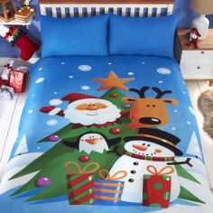 Santa and Friends Christmas Duvet Cover Set