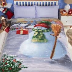 Snowman Christmas Duvet Cover Set - Multi