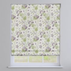 Hampton Grape Purple Traditional Floral Roman Blind