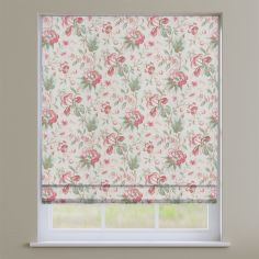 Hampton Ruby Red Traditional Floral Roman Blind