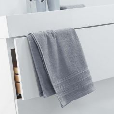 Vitamine Plain 100% Cotton Towel - Silver Grey