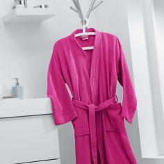 Vitamine Plain 100% Cotton Bathrobe - Fuchsia Pink