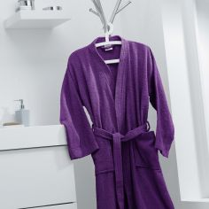 Vitamine Plain 100% Cotton Bathrobe - Purple