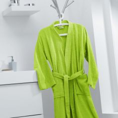 Vitamine Plain 100% Cotton Bathrobe - Lime Green
