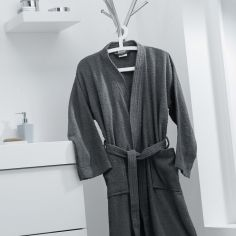 Vitamine Plain 100% Cotton Bathrobe - Grey