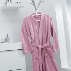 Vitamine Plain 100% Cotton Bathrobe - Pink