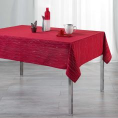 Filiane Applique Polyester Tablecloth - Red