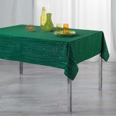Filiane Applique Polyester Tablecloth - Emerald Green