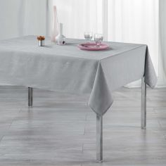 Filiane Applique Polyester Tablecloth - Silver Grey