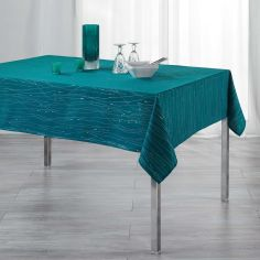 Filiane Applique Polyester Tablecloth - Petroleum Blue