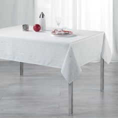 Filiane Applique Polyester Tablecloth - White