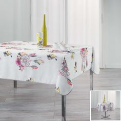 Bohemia Floral Printed Tablecloth - Pink