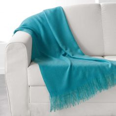 Shelly Acrylic Throw with Tassells - Blue