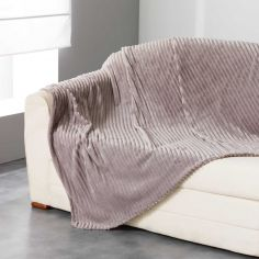 Zeline Flannel Jacquard Throw - Natural Brown