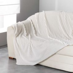 Zeline Flannel Jacquard Throw - Ivory