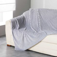 Zeline Flannel Jacquard Throw - Silver Grey