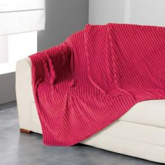 Zeline Flannel Jacquard Throw - Red