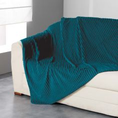Zeline Flannel Jacquard Throw - Blue