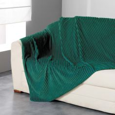 Zeline Flannel Jacquard Throw - Green