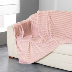 Zeline Flannel Jacquard Throw - Pink