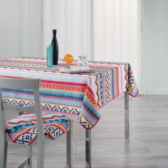 Waxy Multicoloured Printed Tablecloth