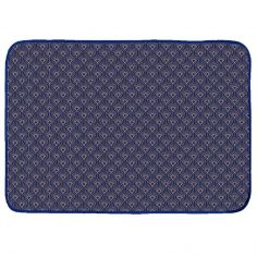 Graphigold Printed Velvet Door Mat - Blue