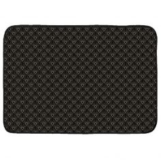Graphigold Printed Velvet Door Mat - Black