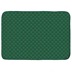 Graphigold Printed Velvet Door Mat - Green