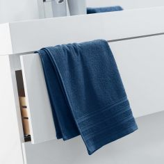 Vitamine Plain 100% Cotton Towel - Navy Blue