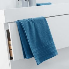 Vitamine Plain 100% Cotton Towel - Petroleum Blue