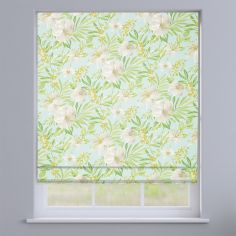 Prado Celadon Green Exotic Flowers Roman Blind