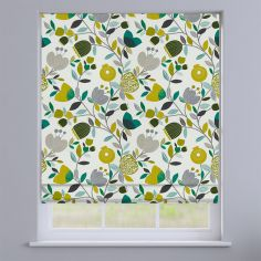 Pomegranate Trail Kiwi Green Modern Floral Roman Blind