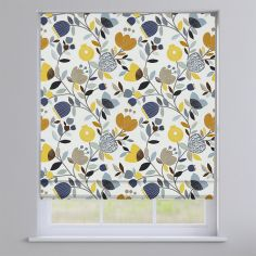 Pomegranate Trail Ochre Yellow Modern Floral Roman Blind