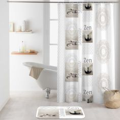 Balaji Shower Curtain with Hooks - Natural