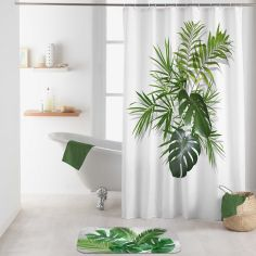 Amazonica Shower Curtain with Hooks - Green