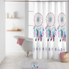 Amerindien Shower Curtain with Hooks - Multi