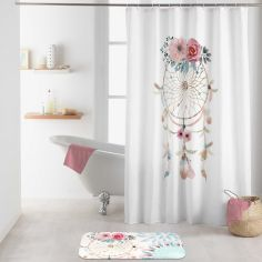 Oiti Shower Curtain with Hooks - Multi
