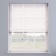 Embossed Faux Wood Venetian Blind With Tape  - Arctic White & White